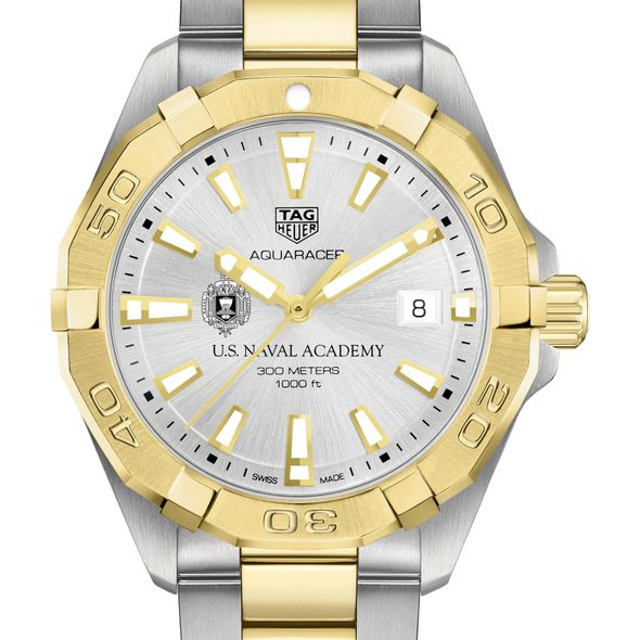 US Naval Academy Men's TAG Heuer Two-Tone Aquaracer - Image 1
