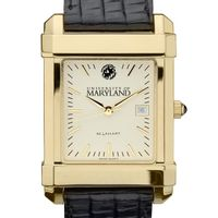 Maryland Men's Gold Quad with Leather Strap