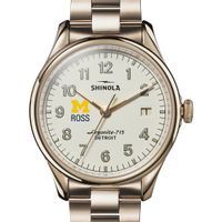 Michigan Ross Shinola Watch, The Vinton 38mm Ivory Dial