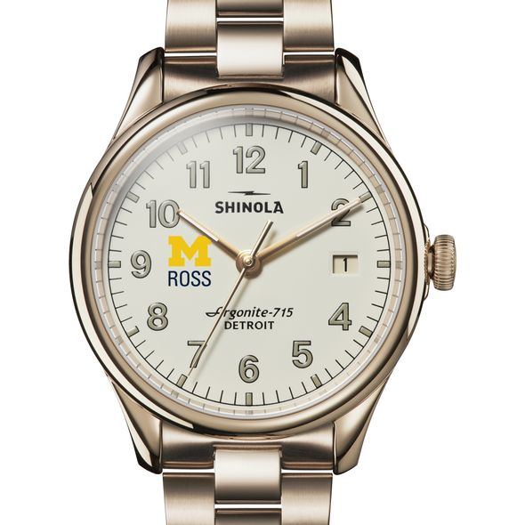 Michigan Ross Shinola Watch, The Vinton 38mm Ivory Dial - Image 1