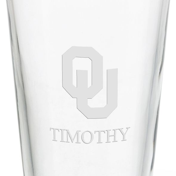 University of Oklahoma 16 oz Pint Glass - Image 3