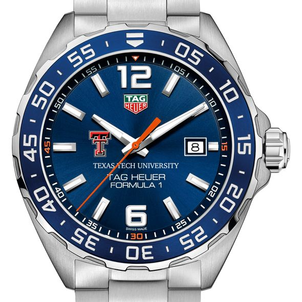 Texas Tech Men's TAG Heuer Formula 1 with Blue Dial & Bezel - Image 1