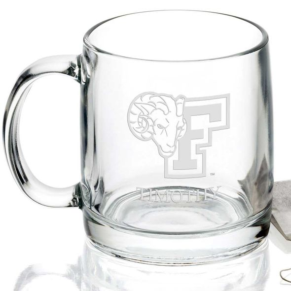 Fordham University 13 oz Glass Coffee Mug - Image 2