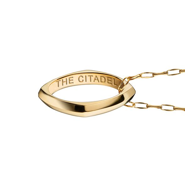 Citadel Monica Rich Kosann Poesy Ring Necklace in Gold - Image 3