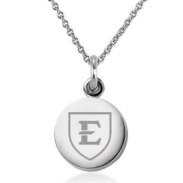 East Tennessee State University Necklace with Charm in Sterling Silver