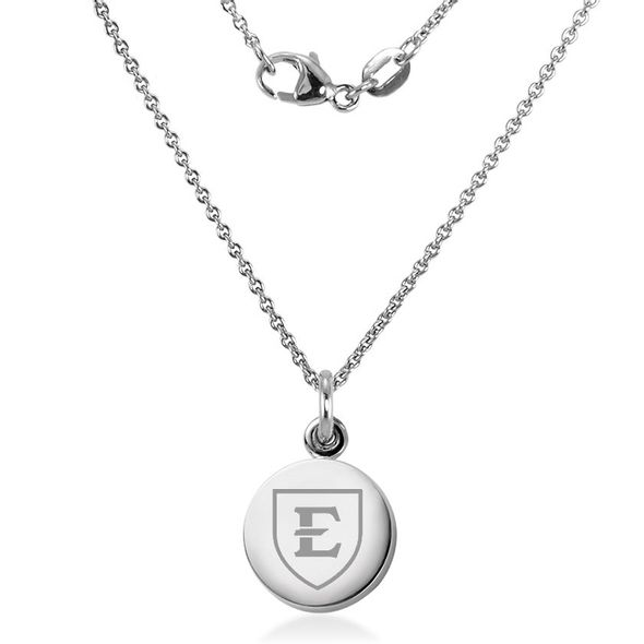 East Tennessee State University Necklace with Charm in Sterling Silver - Image 2