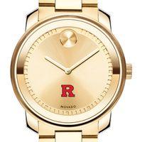 Rutgers University Men's Movado Gold Bold