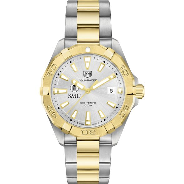 Southern Methodist University Men's TAG Heuer Two-Tone Aquaracer - Image 2