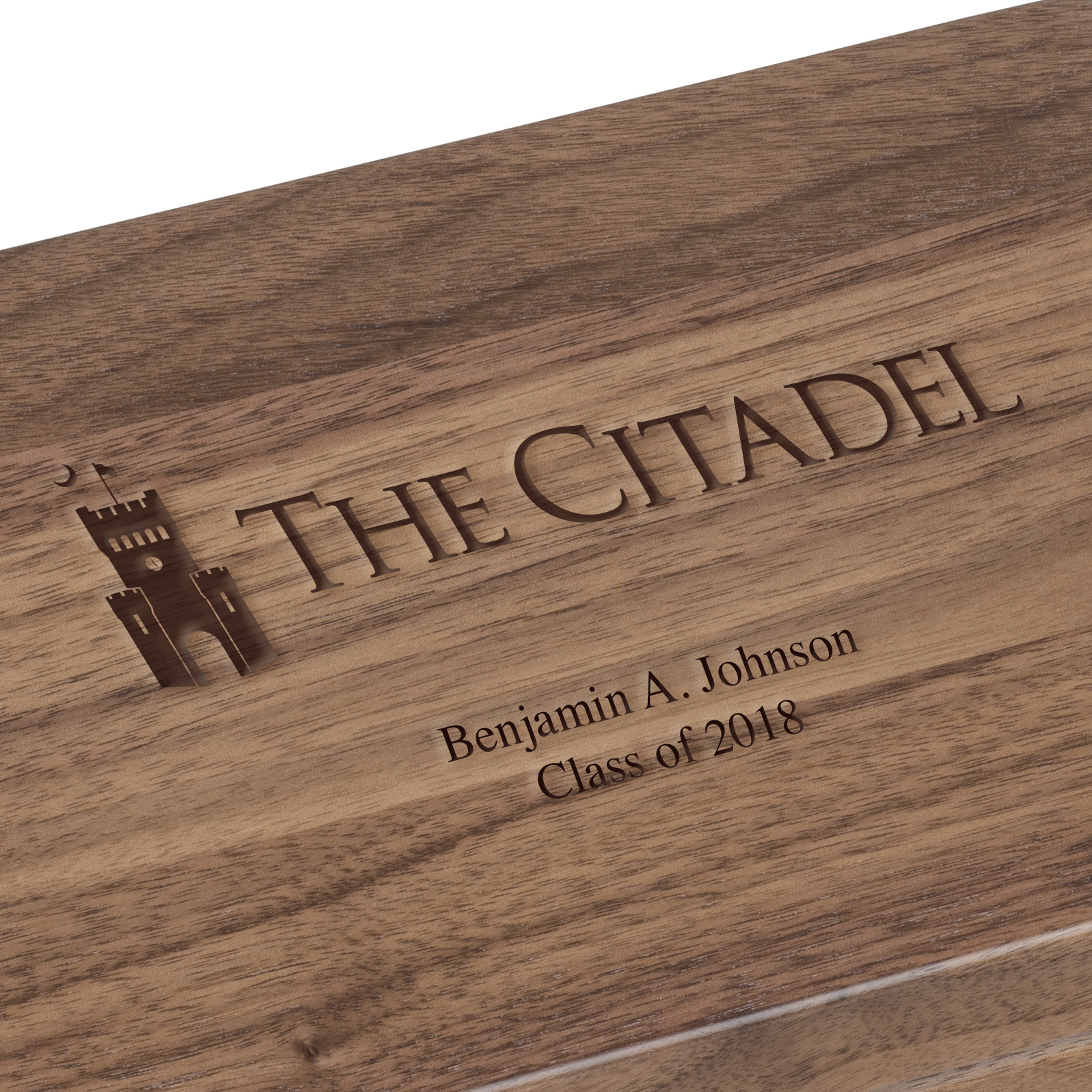Citadel Solid Walnut Desk Box - Image 2
