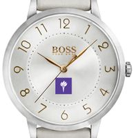 New York University Women's BOSS White Leather from M.LaHart