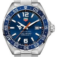 West Virginia University Men's TAG Heuer Formula 1 with Blue Dial & Bezel