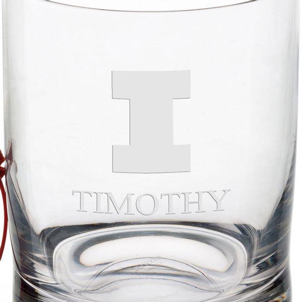University of Illinois Tumbler Glasses - Set of 2 - Image 3