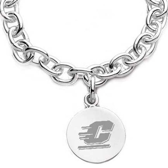 Central Michigan Sterling Silver Charm Bracelet - Image 2