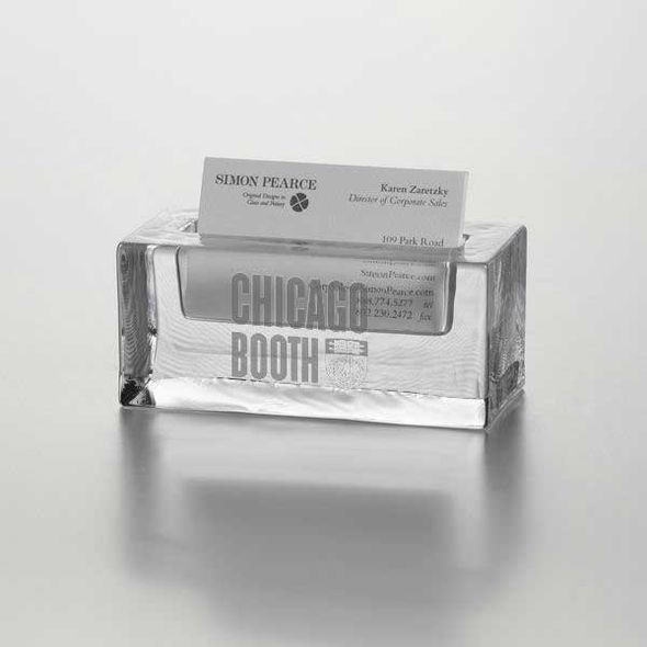Chicago Booth Glass Business Cardholder by Simon Pearce