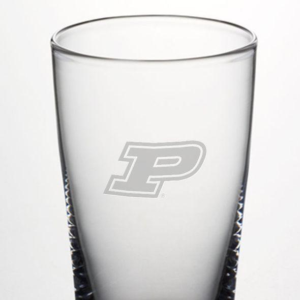 Purdue University Ascutney Pint Glass by Simon Pearce - Image 2
