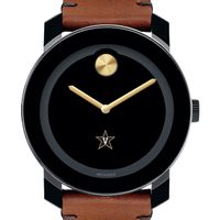 Vanderbilt University Men's Movado BOLD with Brown Leather Strap