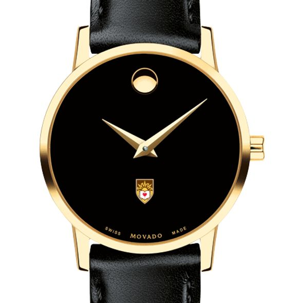 Lehigh University Women's Movado Gold Museum Classic Leather