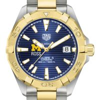 Michigan Ross Men's TAG Heuer Automatic Two-Tone Aquaracer with Blue Dial