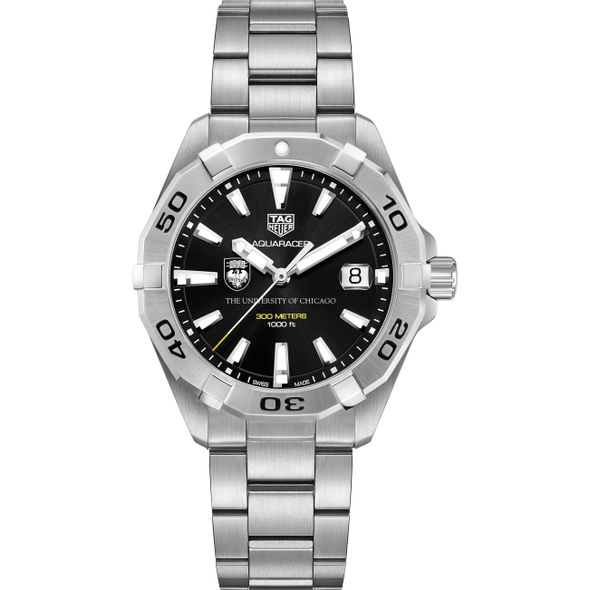 University of Chicago Men's TAG Heuer Steel Aquaracer with Black Dial - Image 2