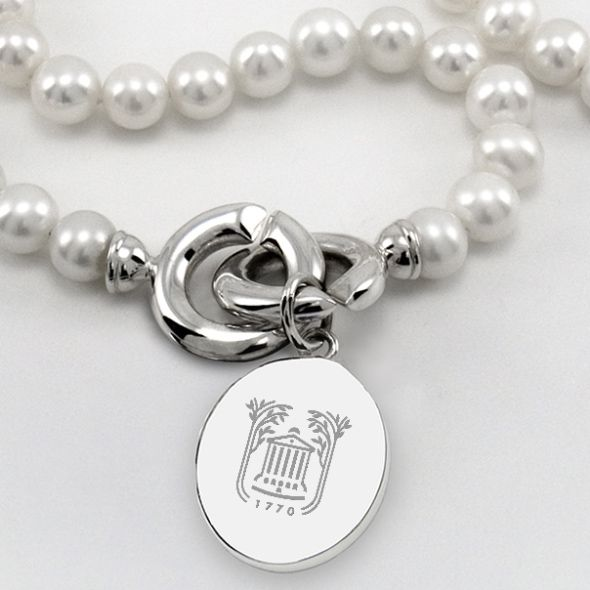 College of Charleston Pearl Necklace with Sterling Silver Charm - Image 2
