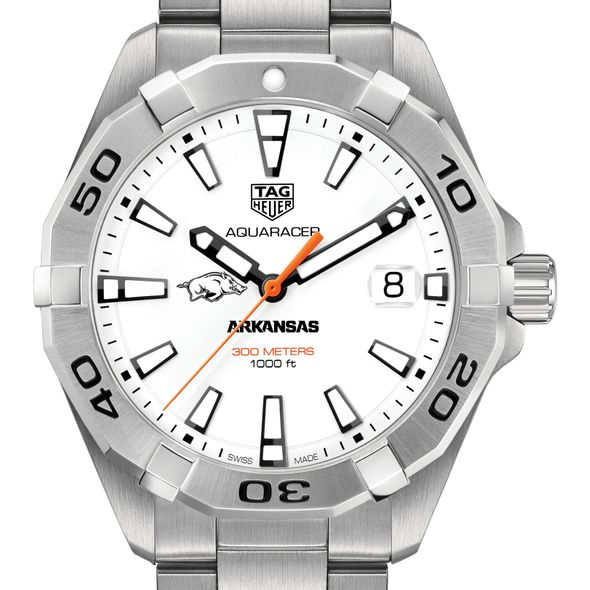 University of Arkansas Men's TAG Heuer Steel Aquaracer