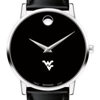 West Virginia University Men's Movado Museum with Leather Strap