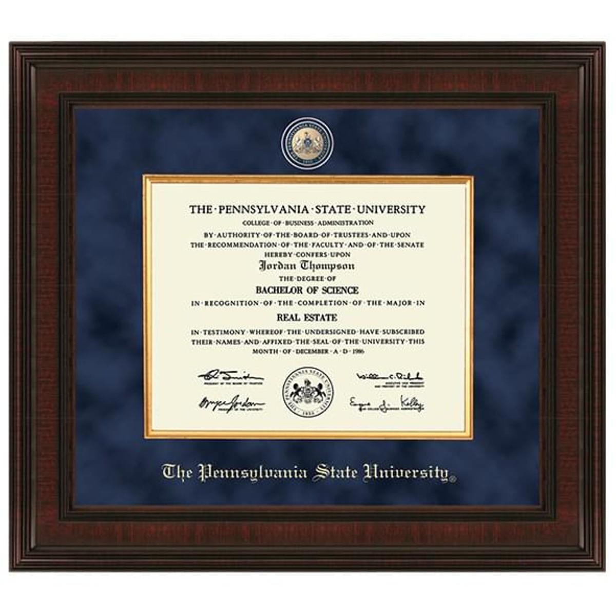 Penn State Diploma Frame Excelsior Graduation Gift