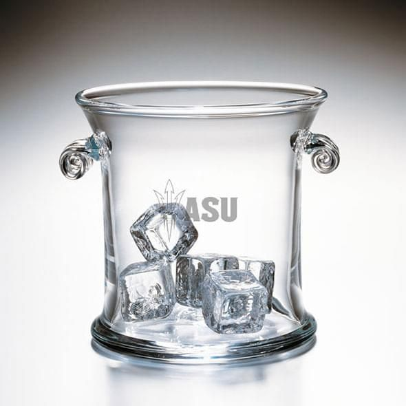Arizona State Glass Ice Bucket by Simon Pearce