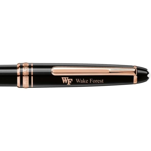 Wake Forest Montblanc Meisterstück Classique Ballpoint Pen in Red Gold - Image 2