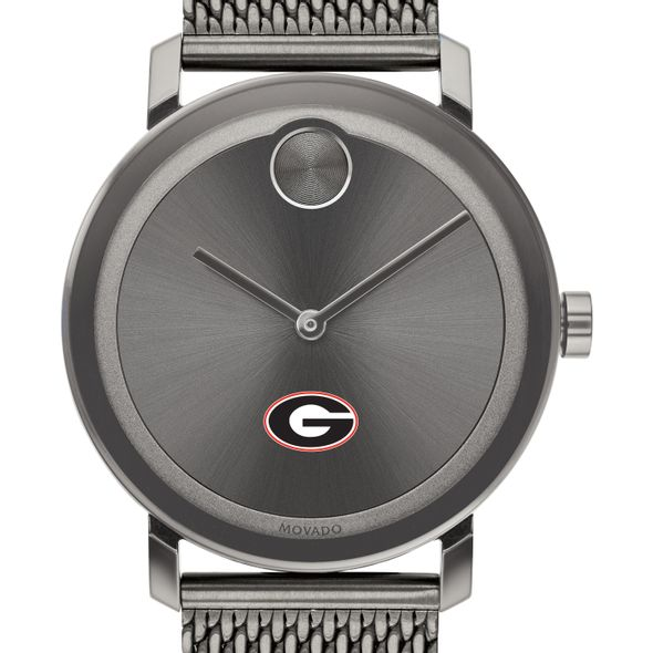 University of Georgia Men's Movado BOLD Gunmetal Grey with Mesh Bracelet