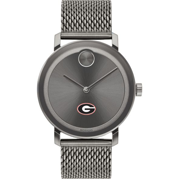 University of Georgia Men's Movado BOLD Gunmetal Grey with Mesh Bracelet - Image 2