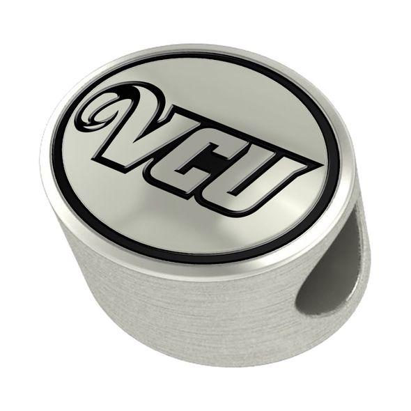 VCU Enameled Bead in Black
