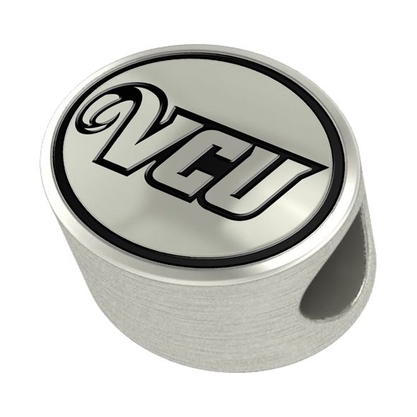 VCU Enameled Bead in Black - Image 2