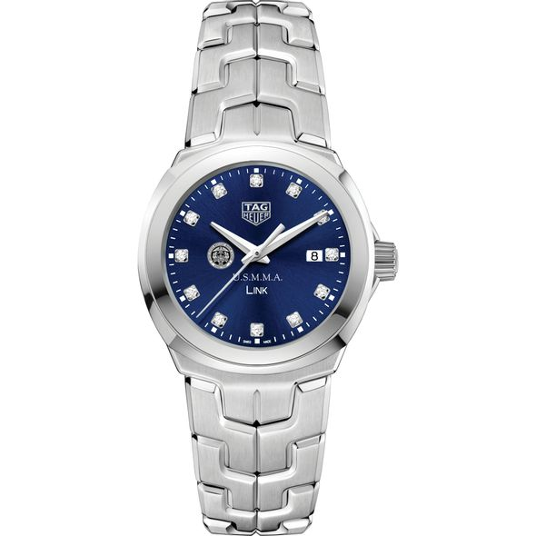 US Merchant Marine Academy Women's TAG Heuer Link with Blue Diamond Dial - Image 2