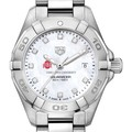 Ohio State Women's TAG Heuer Steel Aquaracer with MOP Diamond Dial - Image 1