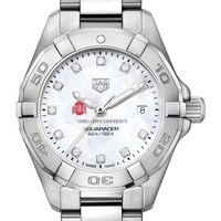 Ohio State Women's TAG Heuer Steel Aquaracer with MOP Diamond Dial