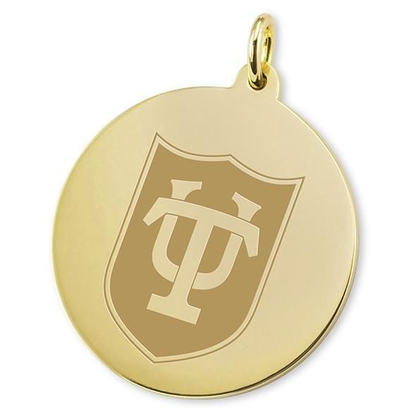 Tulane 14K Gold Charm - Image 2