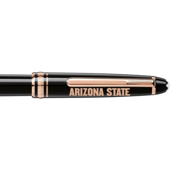 Arizona State Montblanc Meisterstück Classique Rollerball Pen in Red Gold - Image 2