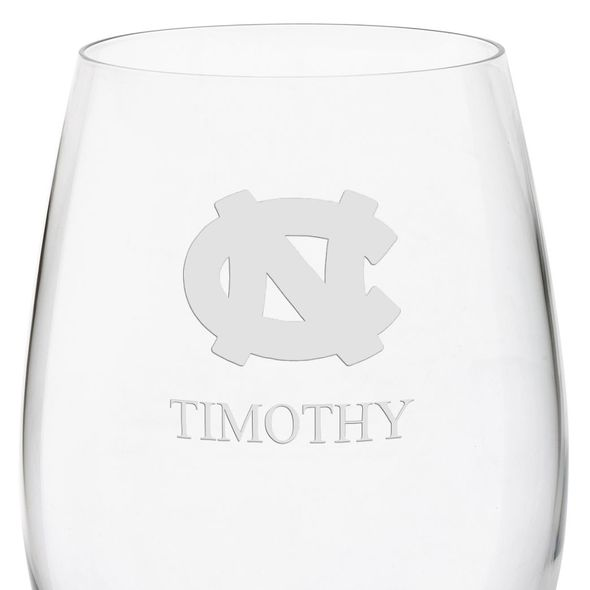University of North Carolina Red Wine Glasses - Set of 4 - Image 3
