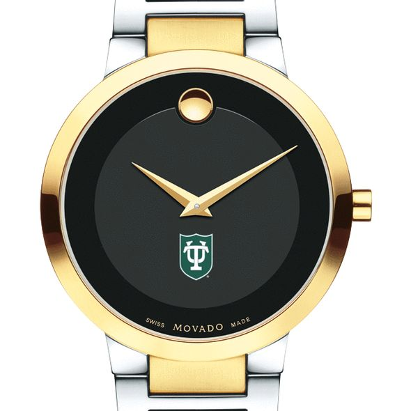Tulane University Men's Movado Two-Tone Modern Classic Museum with Bracelet