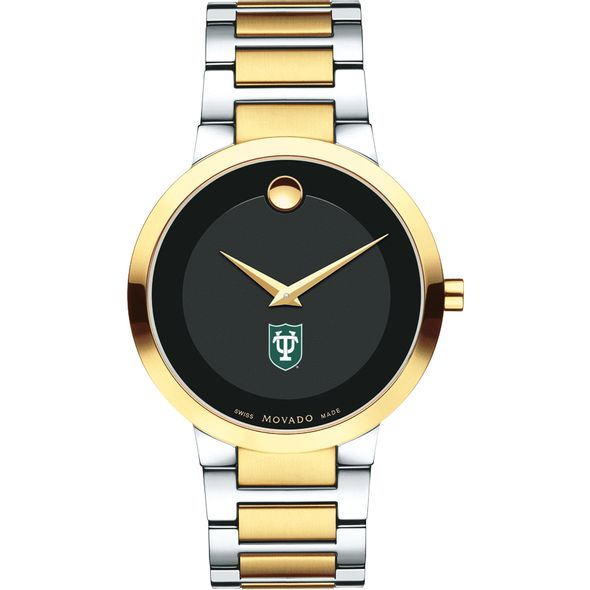 Tulane University Men's Movado Two-Tone Modern Classic Museum with Bracelet - Image 2