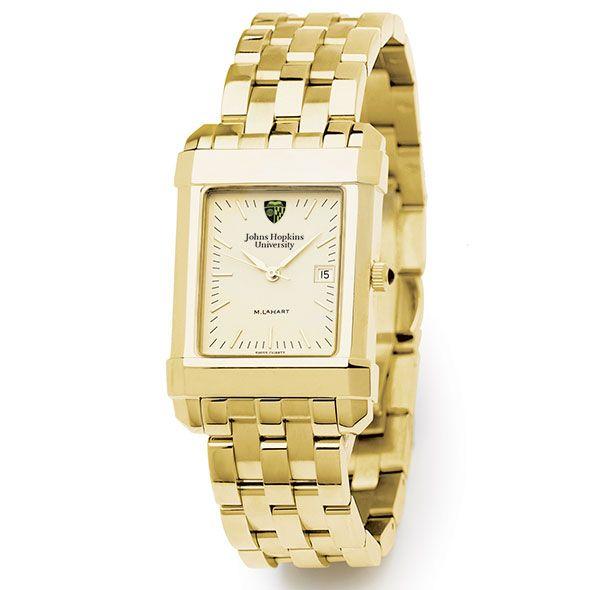 Johns Hopkins Men's Gold Quad Watch with Bracelet - Image 2
