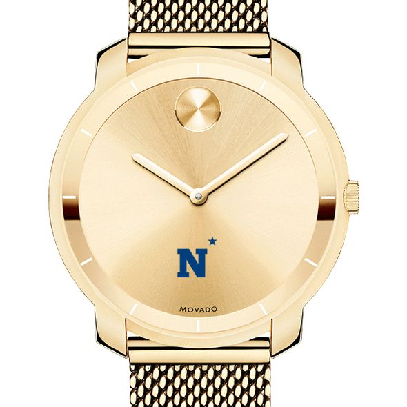 US Naval Academy Women's Movado Gold Bold 36
