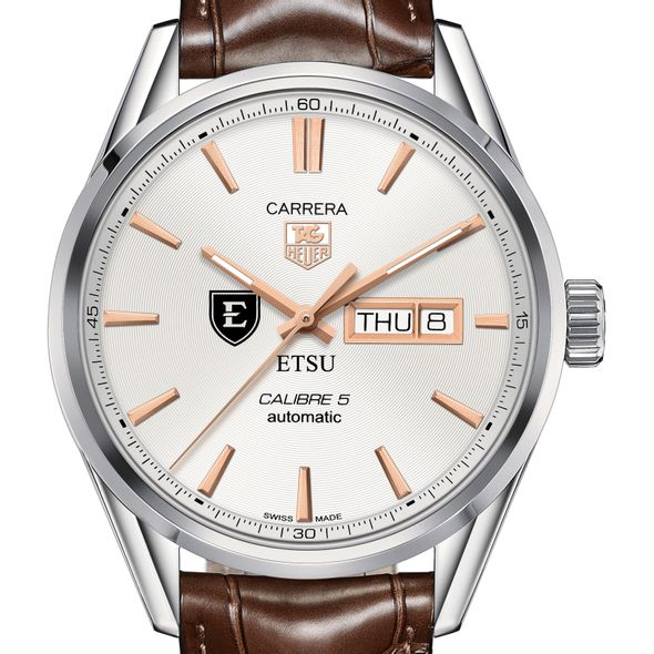 East Tennessee State University Men's TAG Heuer Day/Date Carrera with Silver Dial & Strap