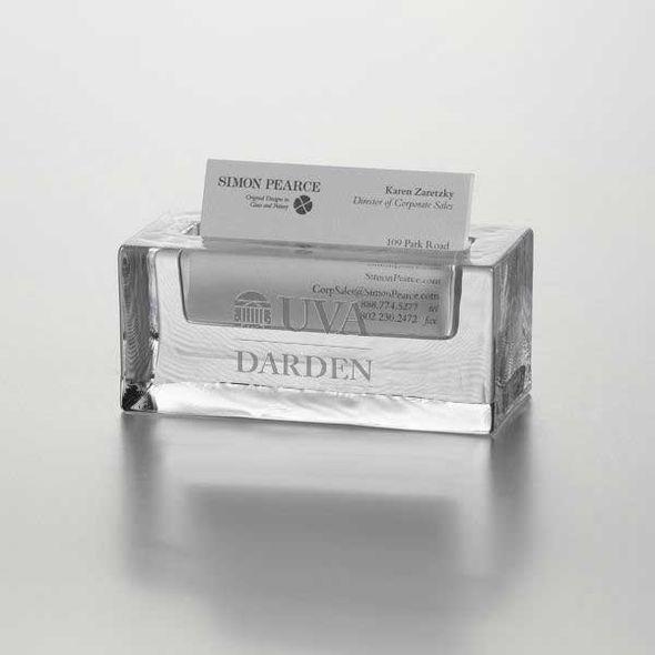 UVA Darden Glass Business Cardholder by Simon Pearce