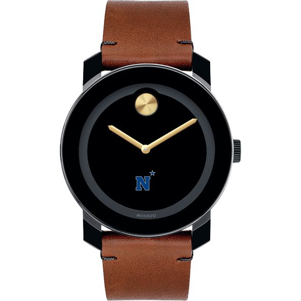 US Naval Academy Men's Movado BOLD with Brown Leather Strap - Image 2