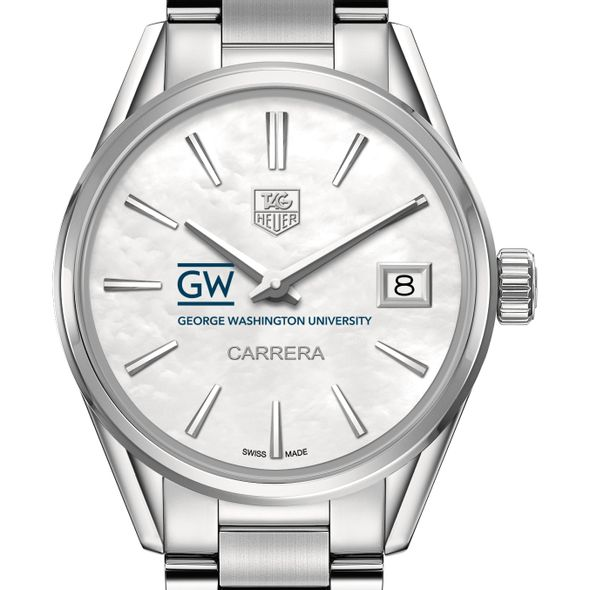 George Washington University Women's TAG Heuer Steel Carrera with MOP Dial