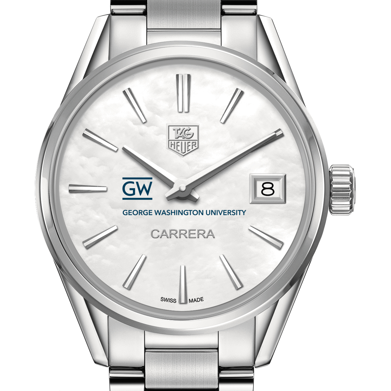 George Washington Women's TAG Heuer Steel Carrera with MOP Dial