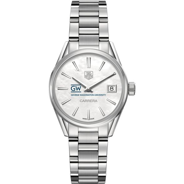 George Washington University Women's TAG Heuer Steel Carrera with MOP Dial - Image 2