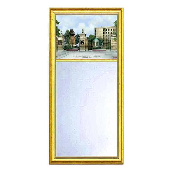 George Washington Eglomise Mirror with Gold Frame